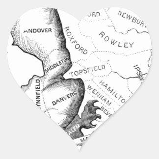 Adesivo Coração Gerry-Mander