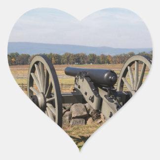 Adesivo Coração Gettysburg: Uma ideia da carga de Pickett