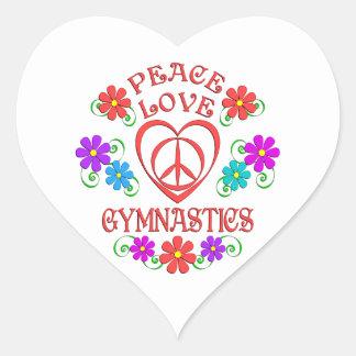 Adesivo Coração Ginástica do amor da paz