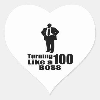 Adesivo Coração Girando 100 como um chefe