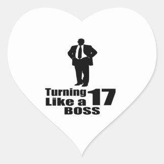 Adesivo Coração Girando 17 como um chefe