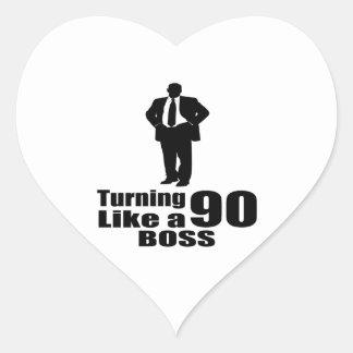 Adesivo Coração Girando 90 como um chefe