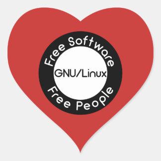 Adesivo Coração GNU/Linux