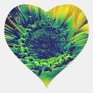 Adesivo Coração Gotas criativas