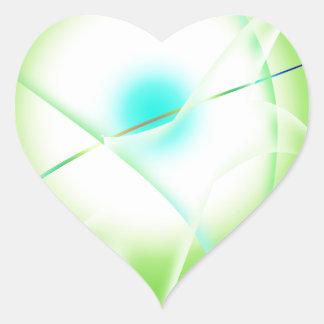 Adesivo Coração gráficos abstratos