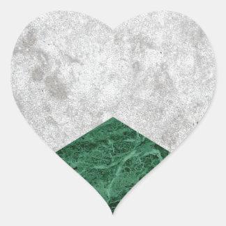Adesivo Coração Granito concreto #412 do verde da seta