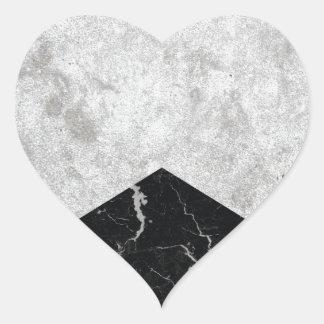 Adesivo Coração Granito concreto #844 do preto da seta