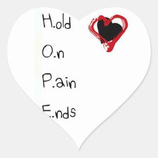 Adesivo Coração Guardare em extremidades da dor