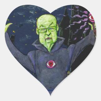 Adesivo Coração Guaxinins do feiticeiro e do mau