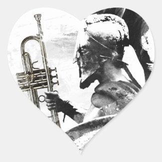 Adesivo Coração Guerreiro da trombeta