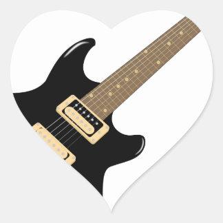 Adesivo Coração Guitarra elétrica