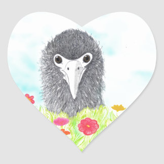 Adesivo Coração Haulani o pintinho do albatroz