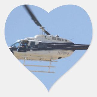 Adesivo Coração Helicóptero