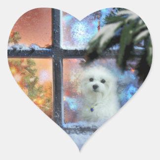 Adesivo Coração Hermes o maltês
