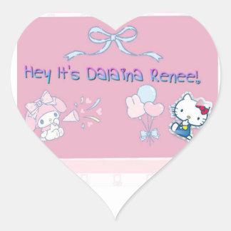Adesivo Coração Hey é Dalaina Renee!