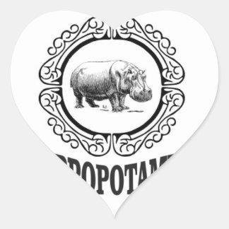 Adesivo Coração Hipopótamo quadro