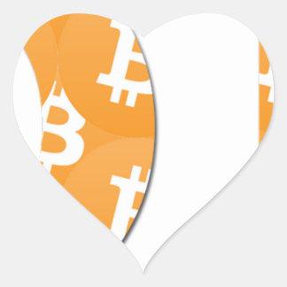 Adesivo Coração Hodl Bitcoin