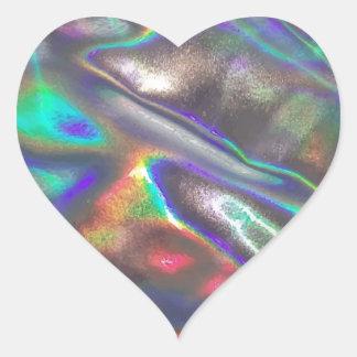 Adesivo Coração holográfico