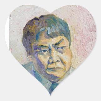 Adesivo Coração homem asiático