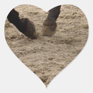 Adesivo Coração Horse hooves