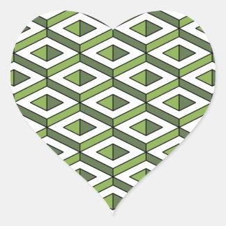 Adesivo Coração hortaliças e couve da geometria 3d