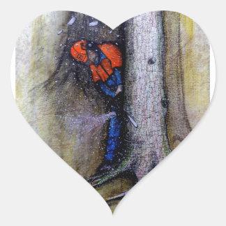 Adesivo Coração Husqvarna do stihl do cirurgião de árvore do