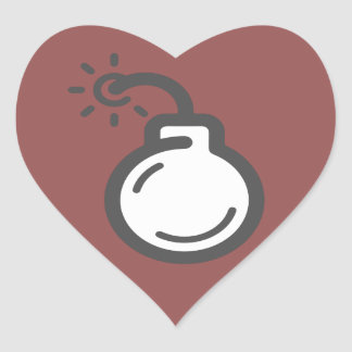 Adesivo Coração Ícone da bomba