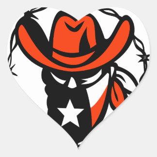 Adesivo Coração Ícone foragido do fio de Barb da bandeira de Texas