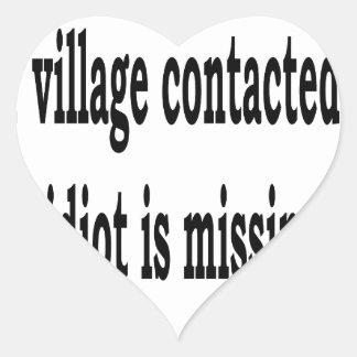 Adesivo Coração Idiota da vila