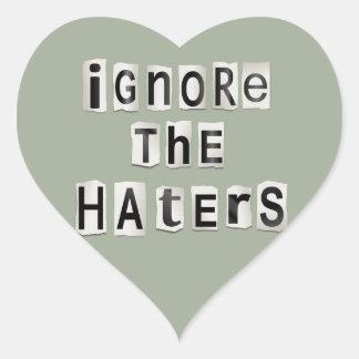 Adesivo Coração Ignore os haters.