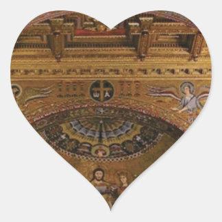 Adesivo Coração igreja ornamentado para dentro