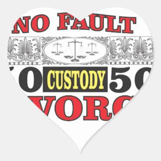 Adesivo Coração igualdade 50 do divórcio 50 da no-falha