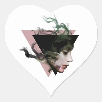 Adesivo Coração Ilusão do fumo