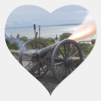 Adesivo Coração Incêndio de Canon