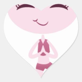 Adesivo Coração Iogue de Namaste