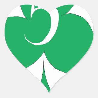Adesivo Coração Irlandês afortunado 5 dos clubes, fernandes tony