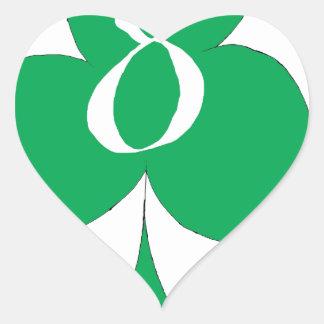 Adesivo Coração Irlandês afortunado 8 dos clubes, fernandes tony