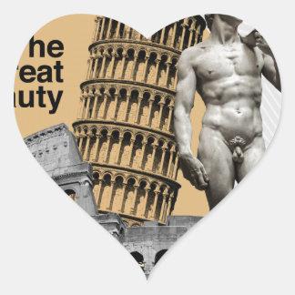 Adesivo Coração Italia, a grande beleza