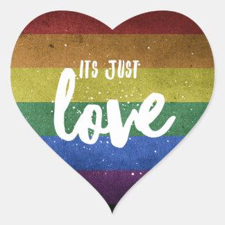 Adesivo Coração Its justamente Love - autocolante coração