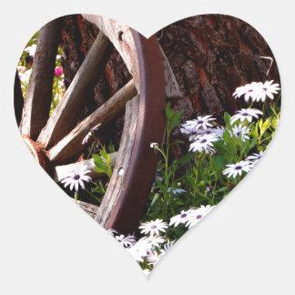 Adesivo Coração Jardim calmo