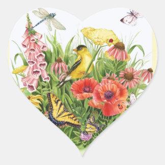 Adesivo Coração Jardim do Goldfinch