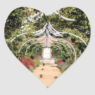Adesivo Coração Jardim inglês velho