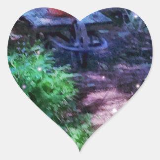Adesivo Coração Jardim secreto