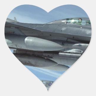 Adesivo Coração jato militar
