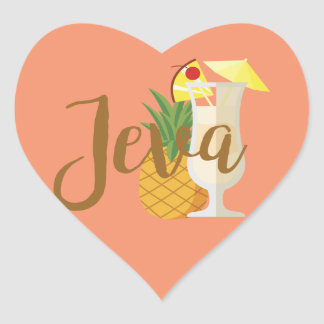 Adesivo Coração Jeva