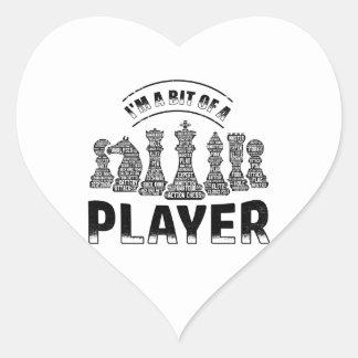 Adesivo Coração Jogador de xadrez