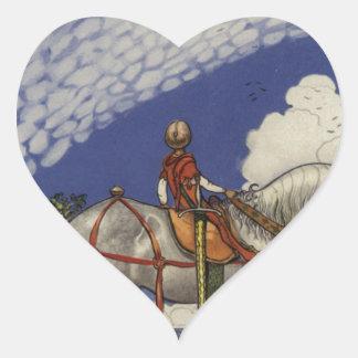 Adesivo Coração John Bauer - no mundo largo
