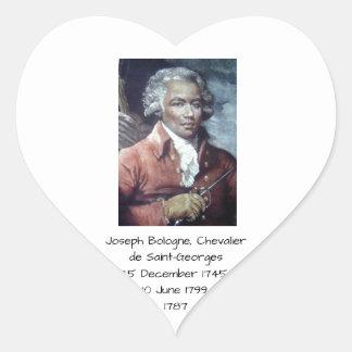 Adesivo Coração Joseph Bologne, Cavaleiro de Santo-Georges