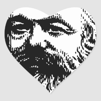 Adesivo Coração Karl Marx - comunismo