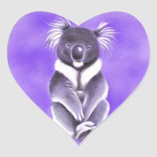 Adesivo Coração Koala de Buddha